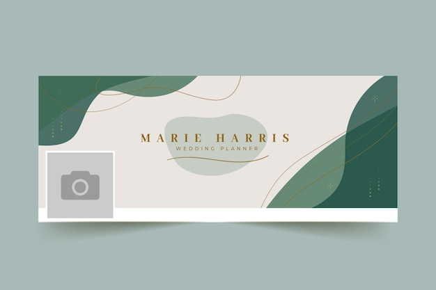 Plantilla de portada de facebook de planificador de boda