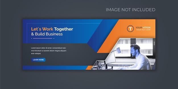 Plantilla de portada de facebook de promoción de marketing de negocios corporativos y digitales