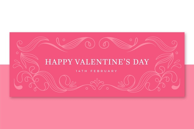 Plantilla de portada de facebook de san valentín