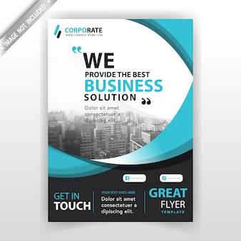 Plantilla de portada de folleto de empresa
