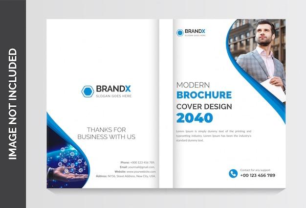 Plantilla de portada de folleto, plantilla de folleto de perfil de empresa, diseño de plantilla de folleto comercial, diseño de plantilla de folleto de páginas
