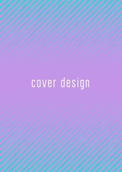 Plantilla de portada fresca. vector de moda mínimo con gradientes de semitono. plantilla de cubierta fresca geométrica para volante, cartel, folleto e invitación. formas de colores minimalistas. ilustración abstracta.