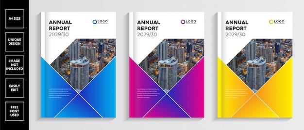 Plantilla de portada del informe anual