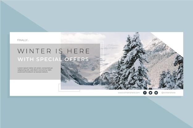 Plantilla de portada de invierno de facebook