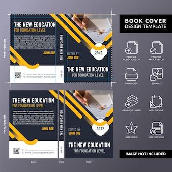 Plantilla de portada de libro educativo