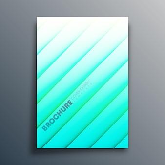 Plantilla de portada con líneas diagonales para volante, cartel, folleto, tipografía u otros productos de impresión. ilustración