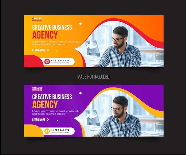 Plantilla de portada moderna de agencia