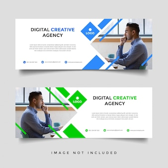Plantilla de portada de negocios corporativos creativos