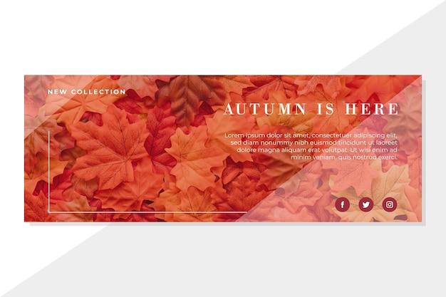 Plantilla de portada de otoño de facebook