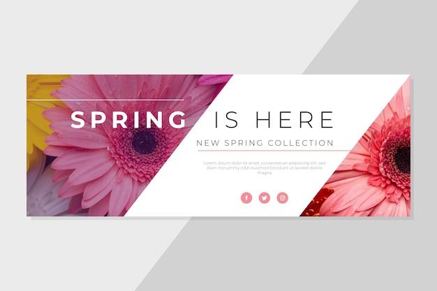 Plantilla de portada de primavera de facebook