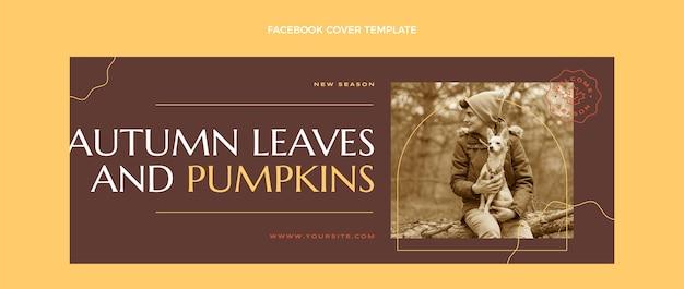 Plantilla de portada de redes sociales plana de otoño