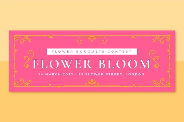 Plantilla de portada de redes sociales de primavera monocolor ornamental