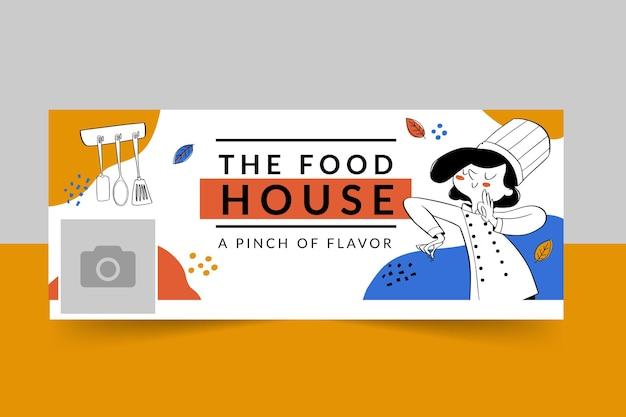 Plantilla de portada de restaurante de comida de facebook