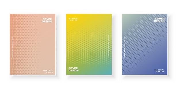 Plantilla de portada de semitono abstracto