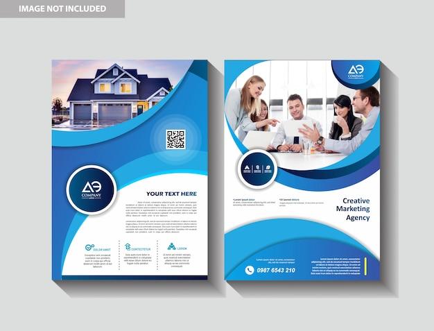 Plantilla de portada tamaño a4 diseño de folleto comercial informe anual