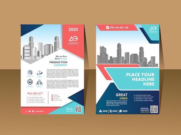 Plantilla de portada tamaño a4 diseño de folleto comercial portada del informe anual