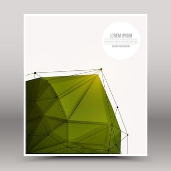 Plantilla de portada tecnológica diseño 3d vector