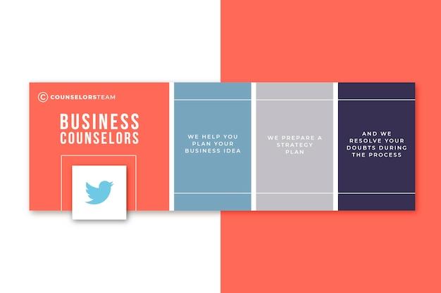 Plantilla de portada de twitter de consejeros de negocios