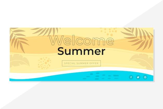 Plantilla de portada de verano de facebook
