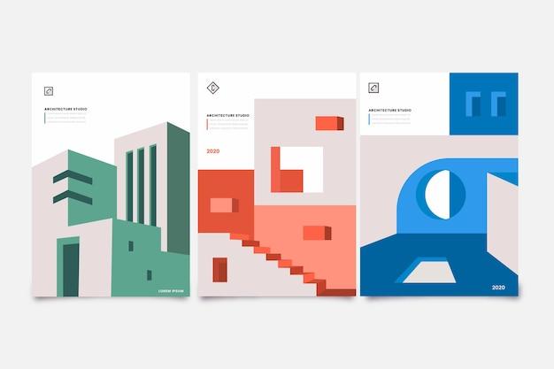 Plantilla de portadas de arquitectura mínima