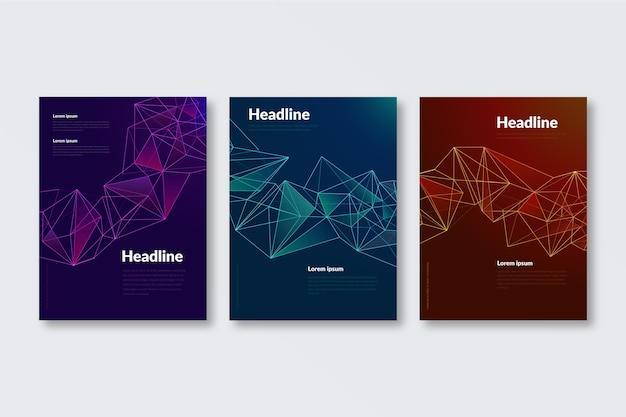 Plantilla de portadas de formas geométricas abstractas