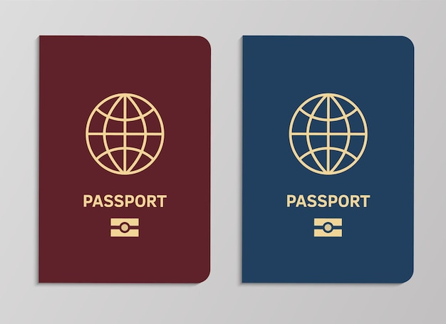 Plantilla de portadas de pasaporte biométrico internacional