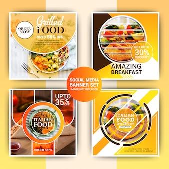 Plantilla de post de instagram de comida