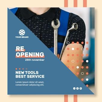 Plantilla de póster de anuncio mecánico