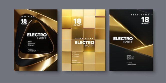 Plantilla de póster de anuncios de festival de música electrónica