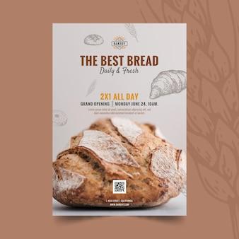 Plantilla de póster de apertura de panadería