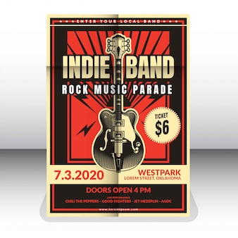 Plantilla de póster de banda independiente