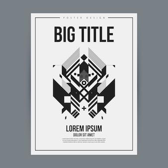 Plantilla de póster en blanco y negro