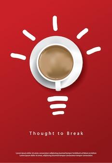 Plantilla de póster de café
