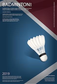 Plantilla de póster de campeonato de bádminton