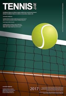 Plantilla de póster de campeonato de tenis