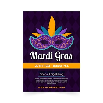 Plantilla de póster de carnaval