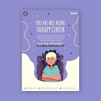 Plantilla de póster de centro de terapia