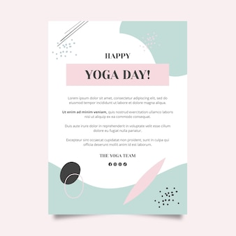 Plantilla de póster de clase de yoga