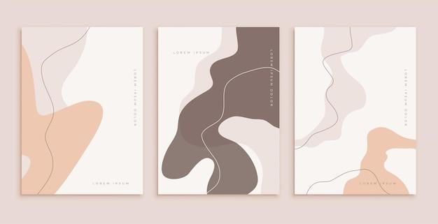 Plantilla de póster clásica en línea y estilos de compartir fluido