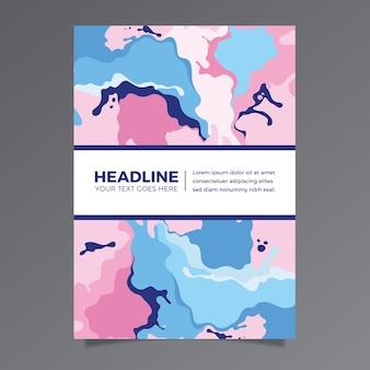 Plantilla de póster colorido efecto fluido
