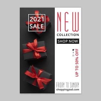 Plantilla de póster de compras y ventas en línea