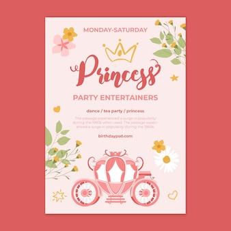 Plantilla de póster de cumpleaños para niños