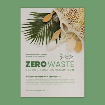 Plantilla de póster del curso de desperdicio cero