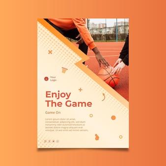 Plantilla de póster deportivo degradado