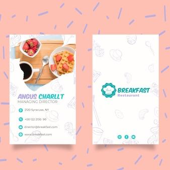 Plantilla de póster de desayuno sabroso vector gratuito