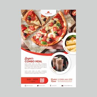 Plantilla de póster de descuento de comidas combinadas