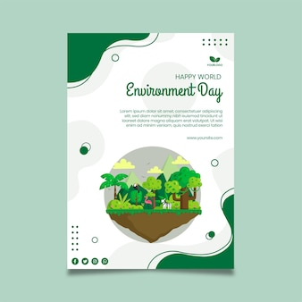 Plantilla de póster del día del medio ambiente