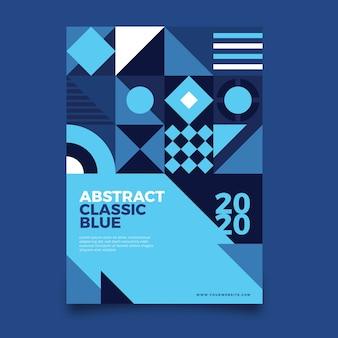 Plantilla de póster de diseño clásico abstracto
