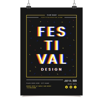 Plantilla de póster de diseño del festival