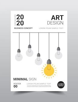 Plantilla de póster de diseño minimalista creativo.
